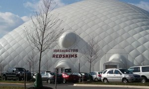We traveled to Redskins Park in Ashburn for an interview. Got to see some players : ) (Photo: Clara Pak)